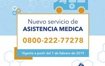 Nuevo servicio de asistencia médica a domicilio