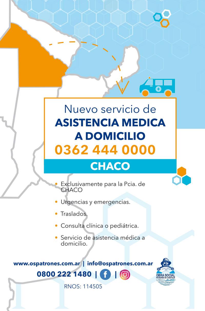 Asistencia médica domiciliara en Chaco - OSPatrones